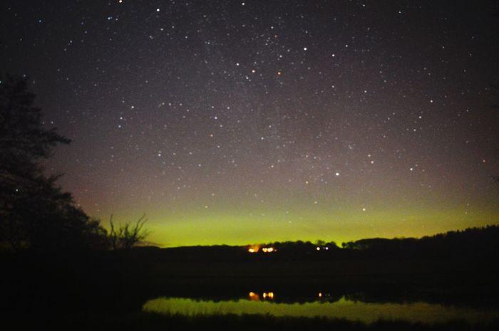 Northern Lights Night Photography Scotland Aurora Borealis Pitfour Lake Mintlaw Colourful Nature Learn & Shoot: Balancing Elements