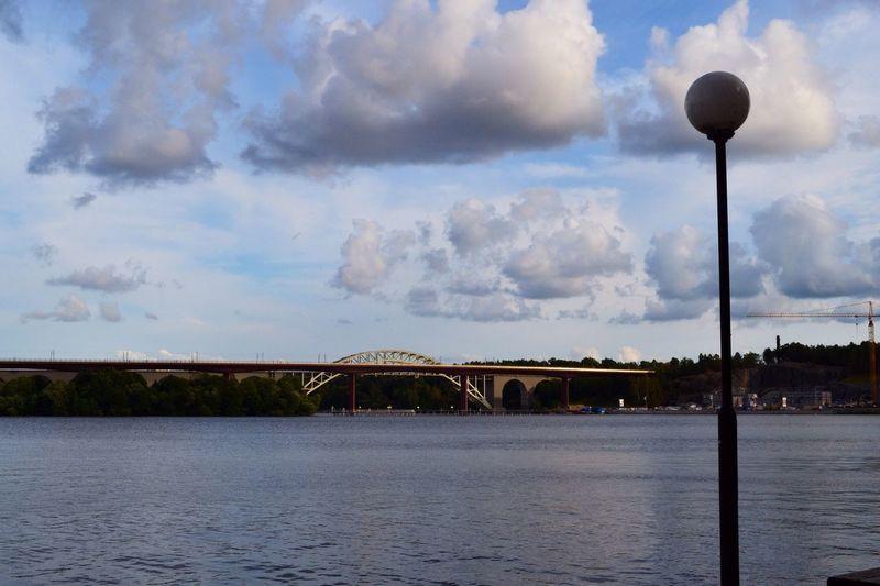 Årstabron Clouds And Sky Bridge Stockholm