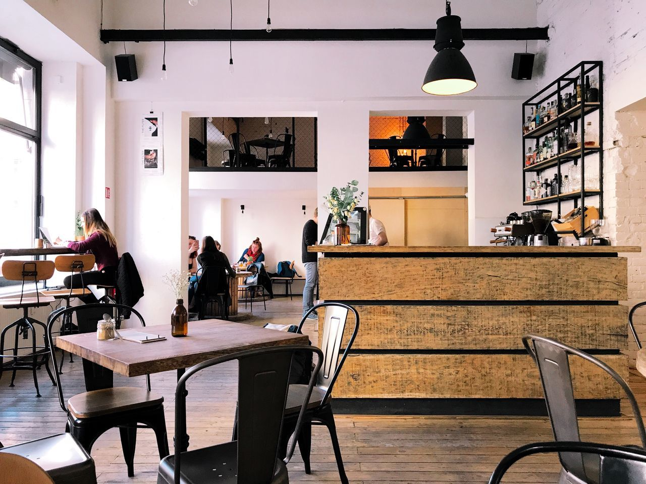 chair, table, real people, indoors, restaurant, cafe, sitting, lifestyles, women, leisure activity, men, architecture, day, people