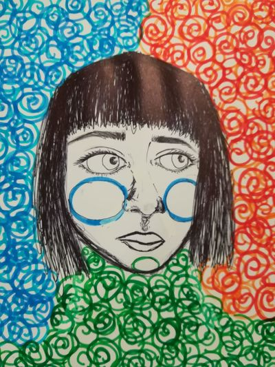 CONTRASTI Genova ♥ Passion Art Contrasts Art, Drawing, Creativity Artistic Expression Love Art Genova Art Draw By Me MyArt Color Blackandwhite Whiteandblack SkecthArt Big Eyes Emotions Girl Girl Power My Love September Is Coming EyeEmArt EyeemArtLover Eyeemartgallery EyeEmArtists