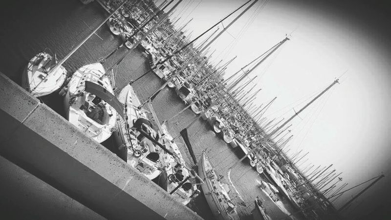 Spain Barcelona 2015  B&w Samsung S6 Black And White Black & White Barcelona Sea Classic Outdoors Spain ✈️🇪🇸 Enjoying Life Samsung Galaxy S6