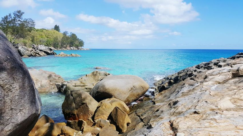 Sea Water Horizon Over Water Tranquil Scene Beach Scenics Rock - Object Idyllic Beauty In Nature Non-urban Scene Tourism Strand Travelphotography Travel Travel Photography Seychellen Mahé Tourist Seychelles Outdoors Traveling Wave Beauty In Nature Nature Rock Formation