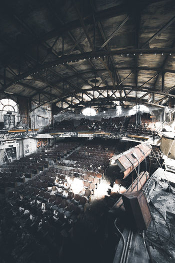 Interior of abandoned theater