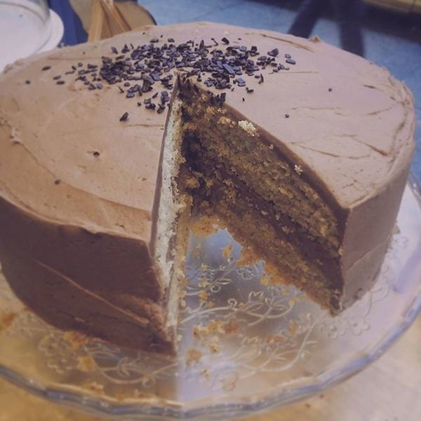 Doesn't look like much does it? That's because it's a cake. It is however a tasty Gluten free Earl Grey and Lavender Chocolate cake. Glutenfree Cake Baking Chocolate EarlGrey