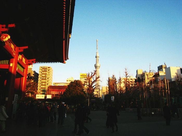 晴空塔 Tokyoskytree Sensoji Temple  Dusk In The City Dusk In Kyoto