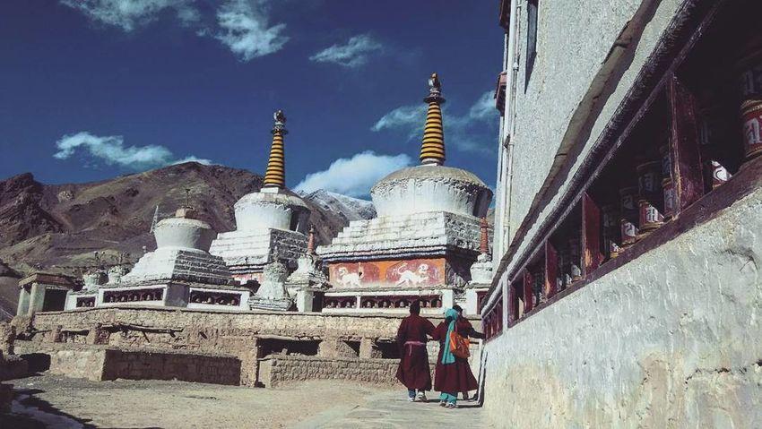 Leh Ladakh.. Leh Religion Spirituality Place Of Worship Pilgrimage Monastery Eyemphotography Leh Ladakh India Lehladakhtrip EyeEm Best Shots Redmi1s Corridor Three People Landscape Snow Outdoors Parents ❤❤❤ Traditional Costume Eyem Gallery Front View Lamayuru Ladakhdiaries Leh Ladakh Time With Family 😀