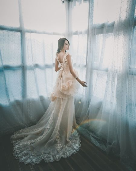 Portrait Women One Person Celebration Indoors  Clothing Wedding Fashion Window Beautiful Woman Young Adult Bride Adult Wedding Dress Beauty Newlywed Dress Young Women Full Length Real People Females