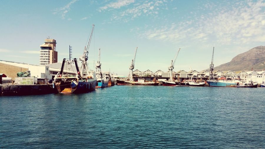 Nautical Vessel Harbor Business Finance And Industry Transportation Commercial Dock Travel Destinations Tall Ship Mast Sailing Ship Nautical Theme Industry Pier Ship Scenics Amazing View My Unique Style Check This Out Cape Town, South Africa Backgrounds Landscape Capture The Moment EyeEmNewHere Harbor Cape Town In The Distance No People Lost In The Landscape