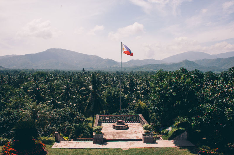Philippines Architecture Beauty In Nature Day Flag Mountain Nature No People Outdoors Patriotism Sky Tree