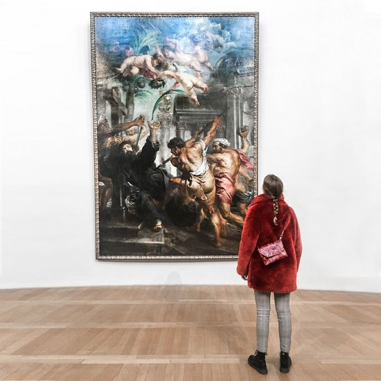 Peter Paul Rubens Adult Animal Themes Day Full Length Indoors  Large Group Of Animals Lifestyles One Person People Real People Warm Clothing Young Adult