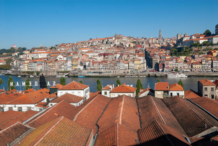 Architecture TOWNSCAPE Outdoors Roof Tile City Roof Cityscape Building Building Exterior Built Structure Clear Sky House Town Blue Portugal Porto Oporto Port Wine Cellar
