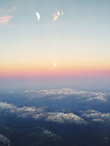 Nature Beauty In Nature Sky Scenics Tranquil Scene Tranquility Sunset No People Cloud - Sky Outdoors Ethereal Landscape Astronomy Day Airplane Wing