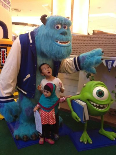 Monsters INC Asian Girl Little Girl Potrait Siblings Brother & Sister Asian Boy Little Boy