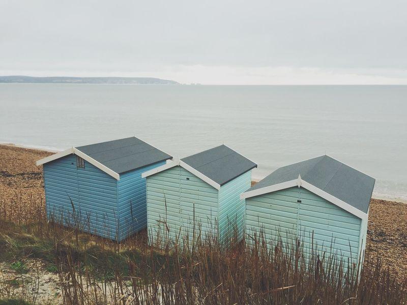 The Needles Beachlife Beach Huts Blue Seaside Coastline Isle Of Wight  Pastel Power