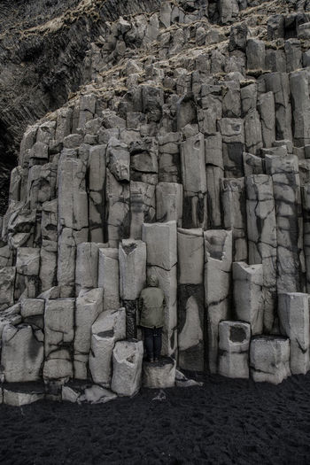 where's wally? #3 Back View Basalt Columns Stones Rocks Iceland Iceland_collection Black Sand Beach Camouflage Blending In  Stack Heap Arrangement Full Frame