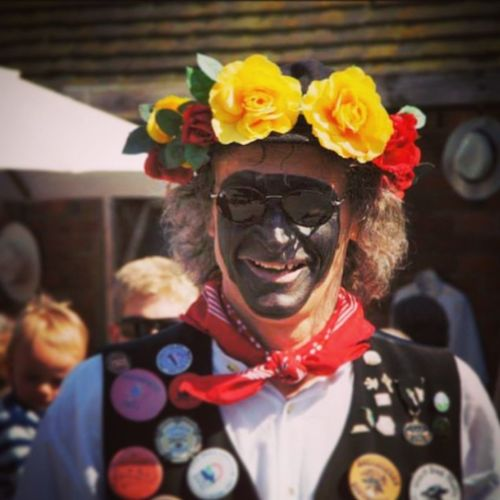 A morrisman Portrait Eyeemphotography Eye4photography  People Watching Peoplephotography Morris Dancers Morrisman Black Molly Rodehall Cheshire