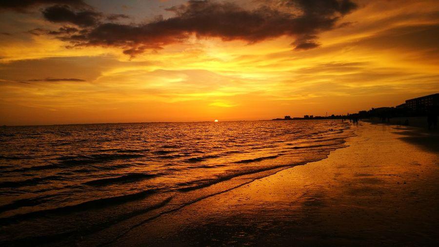 Another original sunset pic Sunset Sea Beach Night Sky Dramatic Sky Cloud - Sky Tourism Travel Destinations TheSunshineState