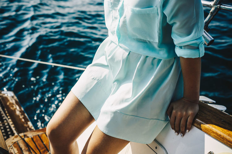 Resting under the sun Boat Deck Leisure Activity Luxury Nautical Vessel One Young Woman Only Outdoors Relaxation Sailboat Sailing Sailing Ship Sea Summer Summertime Vacations Water Wealth Yacht Yachting Young Adult Young Women Live For The Story