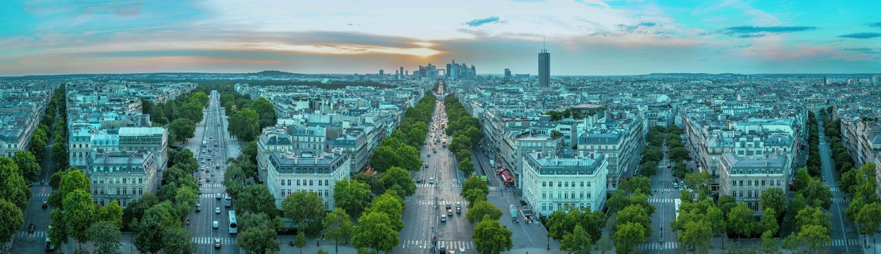 City From Above City View  Cityscape Sunset La Défense France Panorama Paris