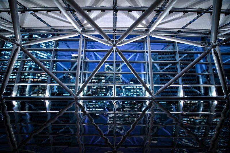 ミライ Blue Indoors  No People Built Structure Architecture Illuminated Day Network Server