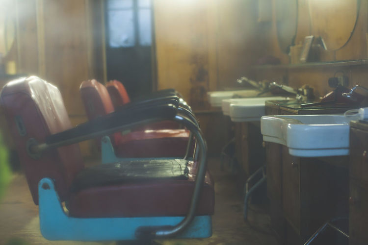 Barber's Barber Barber Shop Barbershop Chair Curiosity Hair Salon Indoors  Light Old Old Chairs Old Hair Salon Sink Table Window