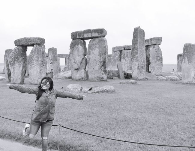 Stonehenge Stonehenge Memorial EyeEmNewHere Architecture Built Structure Childhood Building Exterior Child Sky Full Length One Person