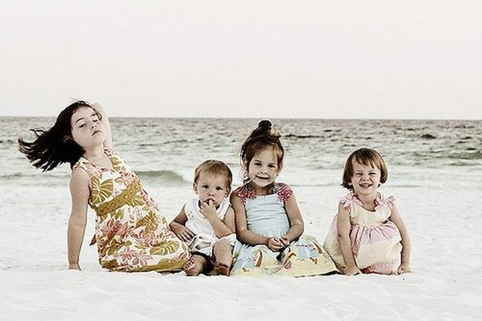 Beach Child Childhood Cute Females Fun Girls Happiness Outdoors Sand Sea Smiling Vacations