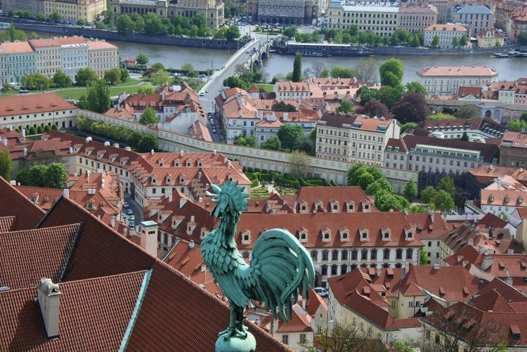 Architecture Building Exterior Roof Built Structure Residential Building No People Outdoors City Day Tiled Roof  Cityscape Prague