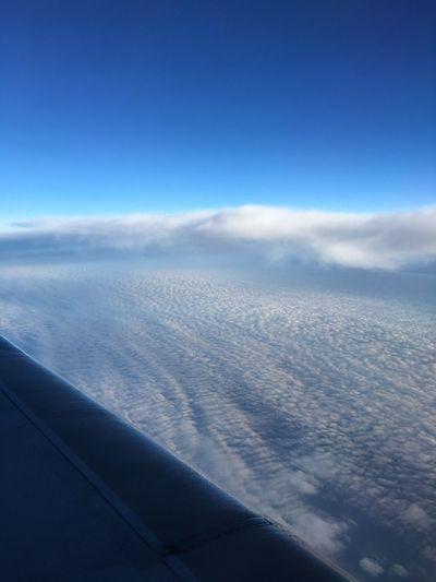 很久沒有從飛機窗看世界了 Sky Cloud - Sky Travel Landscape Traveling Aerial View Airplane Transportation Flying Air Vehicle Blue No People Scenics - Nature Window Urban Skyline Airplane Window View