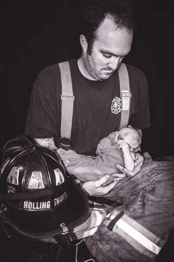 Firstborn Father & Son Firefighters Remembering Memories Newborn Baby