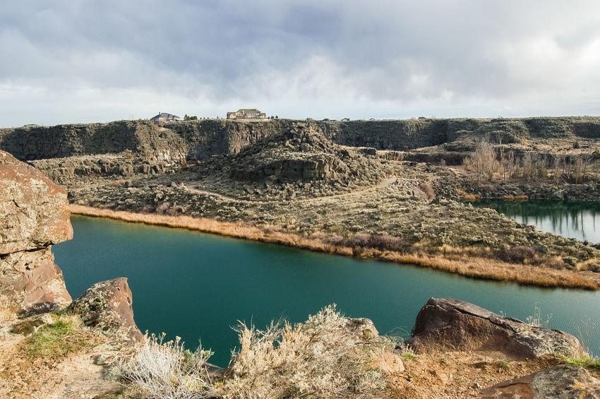 Dierke's Lake in Twin Falls, Idaho. Idahome Beauty In Nature Cloud - Sky Day Dierke's Lake Geology Idaho Idahoexplored Idahogram Lake Landscape Mountain Nature No People Outdoors Physical Geography Rock - Object Scenics Sky Tranquil Scene Tranquility Travel Destinations Twin Falls Twin Falls, Idaho Water