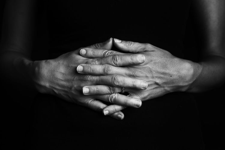 Hand Human Hand Human Body Part Adult People Black Background Studio Shot Close-up Women Finger Human Finger Indoors  Sincerity Skin