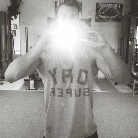 Lifting Weights on Hot Day Selfie Superdry