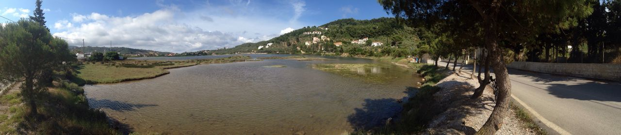 Skiathos Panoramic Water Nature Tree Beauty In Nature Landscape Sky Cloud - Sky
