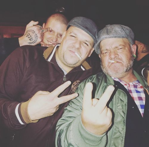 The lads Oi Oi ! SKINHEAD Anti Facism Skinheads Against Racial Prejudice A Way Of Life Skinhead Real People Group Of People Men Togetherness People Lifestyles Emotion Leisure Activity Mature Men