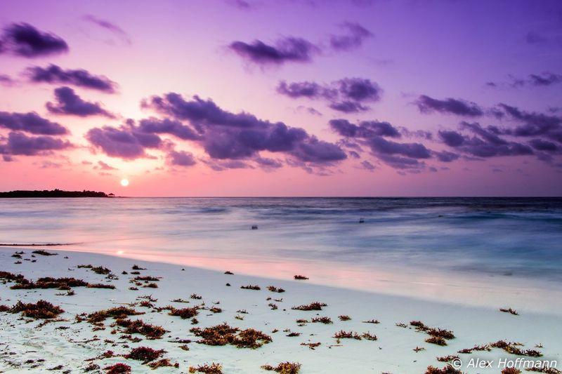 Sunrise Xpu-ha Beach Beautiful Sun ☀ Sunlight восход_солнца Mexico Catalonia Royal Catalonia Is Not Spain Caribbean Caribean Sea First Eyeem Photo Sommergefühle