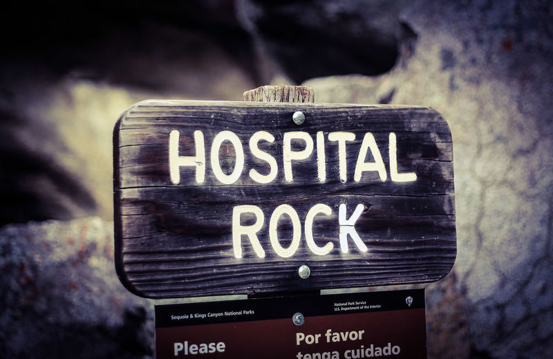 Hospital Rock Native American Sequoianationalpark California Nature Travel USA Sequoianationalforest Hiking Roadtrip Nationalpark Adventure Sequoiaandkingscanyonnationalparks Communication Text Western Script Close-up Single Word Information Information Sign