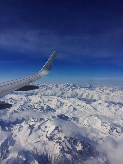 Alpi svizzere Aerial View Airplane Transportation Airplane Wing Nature Sky Scenics Mode Of Transport Air Vehicle Weather Journey Beauty In Nature Travel Flying Cold Temperature Snow Landscape Winter No People Tranquil Scene