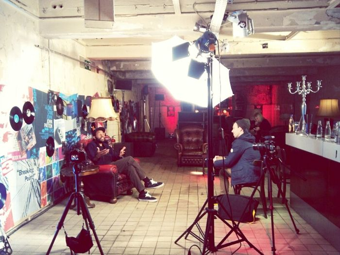 interviewing ray barbee at house of vans in january.