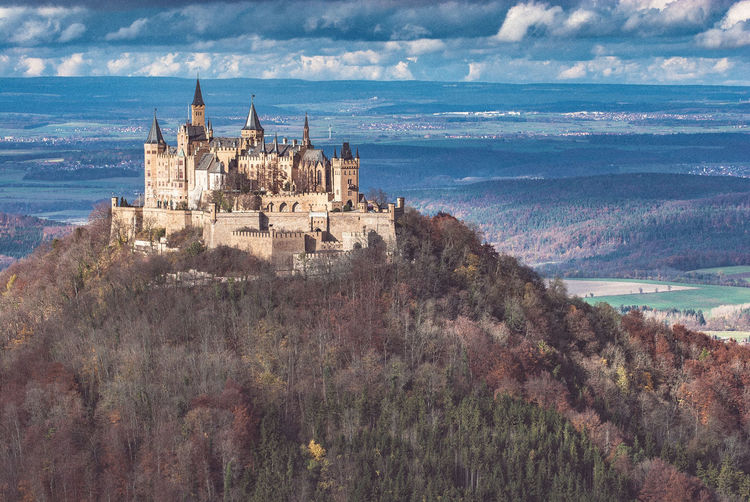 Architecture Autumn Beauty In Nature Building Exterior Built Structure Burg Hohenzollern Castle View  Cloud - Sky Day Mediaeval Nature No People Outdoors Scenics Sky Southern Germany Swabian Alb Travel Destinations