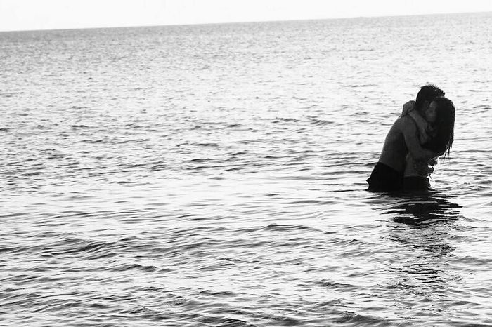 real beauty of being in a relationship: it doesn't matter how big or small the waves you encounter, as long as you're together. Capturing Freedom Blackandwhite Photography Beauty Redefined Sea View