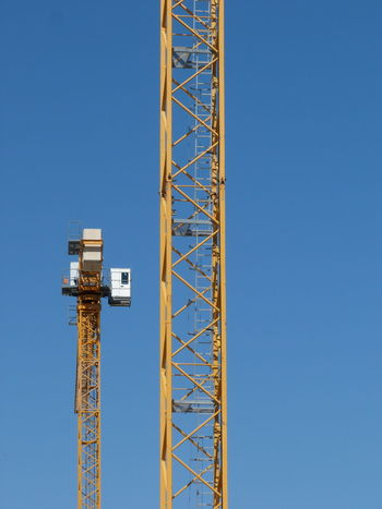Construction Crane Himmel Kran Baukran Blauer Himmel Blue Blue Sky Building Crane Clear Sky Crane Day Sky
