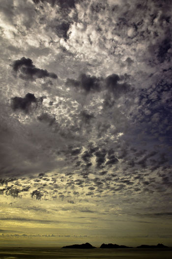 Galicia Islands Islas Cies Vertical Composition Atmospheric Mood Beauty In Nature Cloud - Sky Cloudscape Dramatic Sky Nature Outdoors Scenics Sea Silhouette Sky Sunset Tranquility Weather