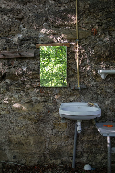 Artistic Mirror Nature Sink Abandoned Architecture Artistic Photo Bathroom Built Structure Close-up Day Indoors  Nature_collection No People Outdoor Bath Outdoors Prison Tree