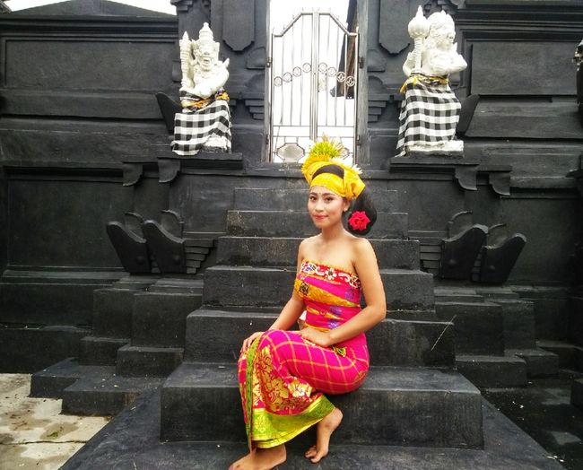 Balinese Culture Balinese Balinese Life Balinesegirl Balinese Dancer Balinese Traditional Balinese Traditional Clothes At Pura Pura Vida ✌ Flower Tiara Portrait Full Length Child Beauty Smiling Arts Culture And Entertainment Headdress Traditional Clothing