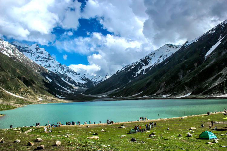 Cloudy Lake Saif ul Mulak Lahore Punjab Pakistan Pakistani Traveller Iftikhar Lake Saif Ul Muluk Cloud - Sky Water Sky Mountain Scenics - Nature Beauty In Nature Lake Nature Paradise Paradise On Earth Paradise Island Paradise Beach Day Environment Landscape Tranquil Scene Grass Cold Temperature Mountain Range Snow Tranquility Winter Outdoors Snowcapped Mountain