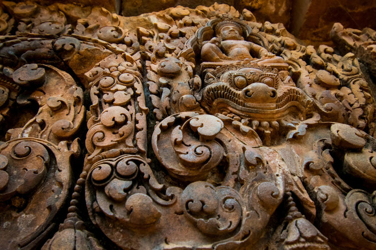 Angkor Angkor Sculpture Backgrounds Full Frame Ancient Civilization Close-up Bas Relief Carving Archaeology Ancient History Civilization Old Ruin Temple
