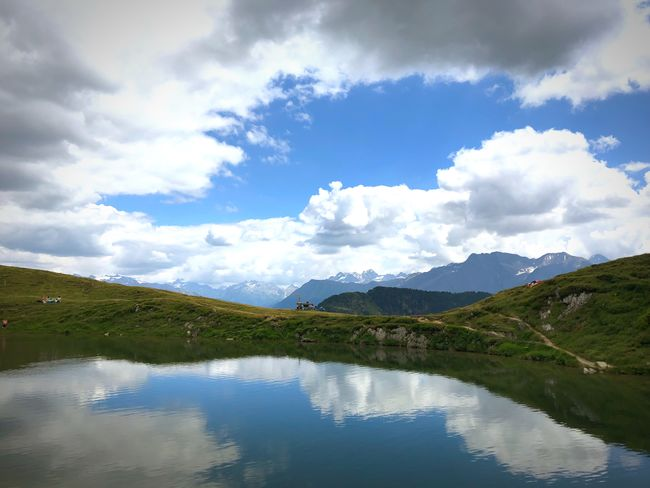 Switzerland Alps Cloud - Sky Water Sky Reflection Mountain Beauty In Nature Tranquility Scenics - Nature Nature Non-urban Scene Lake Mountain Range