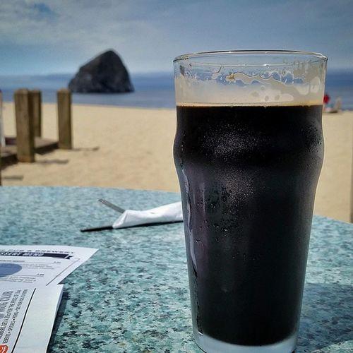 TsunamiStout PelicanPub CapeKiawana Pacificocean Oregoncoast Enjoythelittlethings Beer Travel CoastExplorer
