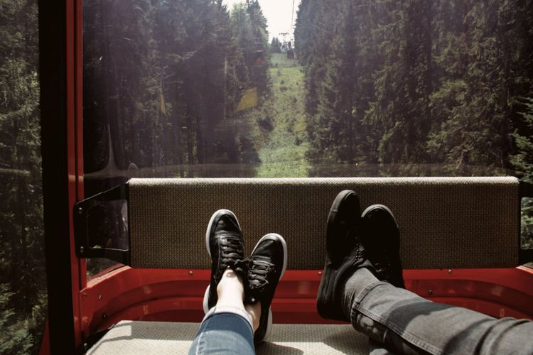 you and me. 35mm Analogue Photography Switzerland Taking Photos EyeEm Best Shots EyeEm Nature Lover Nature_collection Nature Photography Mountains Outdoors Hanging Out Stay Out Low Section Human Leg Tree Red Close-up